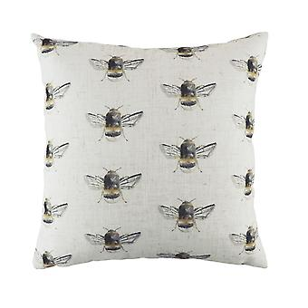 Evans Lichfield Bee Happy Repeat Print Cushion Cover