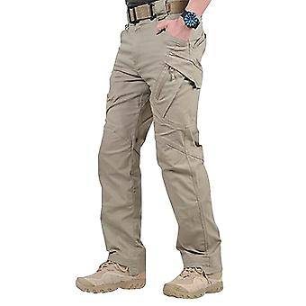 Uomo impermeabile lavoro carico pantaloni lunghi con tasche pantaloni larghi