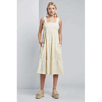 Louche Womens Paz Tiered Cami Midi Dress White