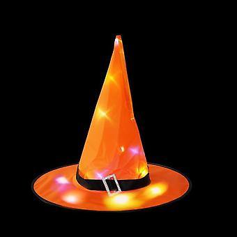 Led Glowing, Witches Hat For Halloween Party Decoration