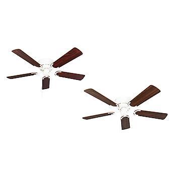 Ceiling fan Kisa Deluxe WH Rosewood / Walnut