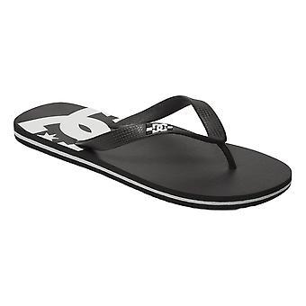 DC Spray Flip Flops - Black / Black / White
