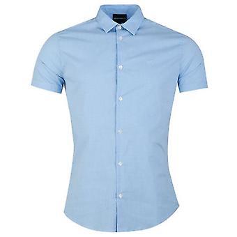 Emporio Armani kurzarm Poplin Gingham Shirt