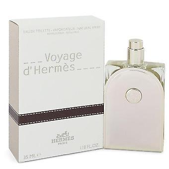 Voyage D'hermes Eau De Toilette Spray täytettävien jäseneltä Hermes 1.18 oz Eau De Toilette Spray täytettävien
