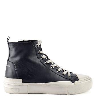 Ash Footwear Ghibly Bis Leather Hi-top Trainers Black