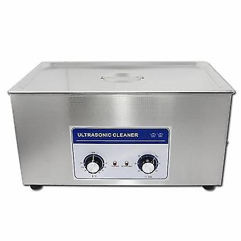 22L المهنية آلة نظافة بالموجات فوق الصوتية مع الموقت الميكانيكية ساخنة الفولاذ المقاوم للصدأ تنظيف خزان 110v/220v