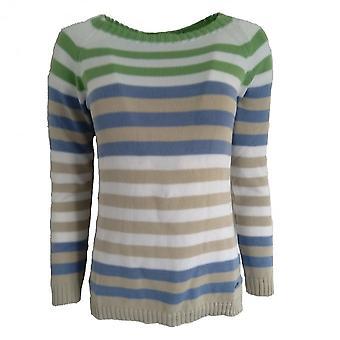 TINTA Tinta Stripe Sweater In Indigo Or Turquoise Portazgo