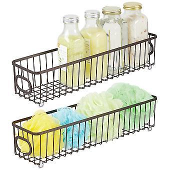 mDesign Metall Badezimmer Lagerung Organizer Korbbehälter