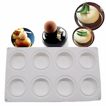 8 Even Oblate Mousse Cake Mold Baking Mold French Dessert Silicone Mold