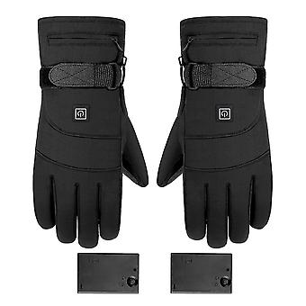 Winter Electric Heated Gloves, Skiing Warm Heating Touch Gloves
