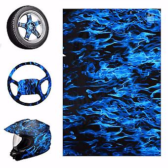 Blue Fire Style Hydrographic Water Film