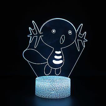 Lampy 3D z pilotem, lampa LED 16 Color Light Ściemnialny przełącznik dotykowy USB / wkład baterii, dekoracja urodzinowa Świąteczny prezent dla dziecka Nastolatek Mężczyzna-pokemon#834
