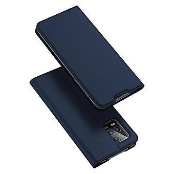 Dla xiaimi 10 lite zoom przypadku odporne anty spadek klapka klapa pokrywa niebieski