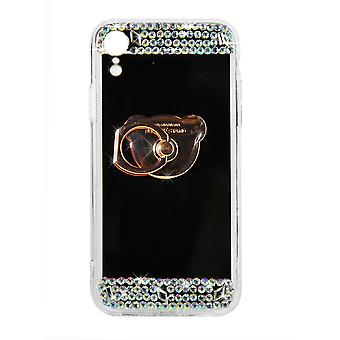 Phone Case Rose Gold Mirror Diamond Crystal Cover For iPhone XR
