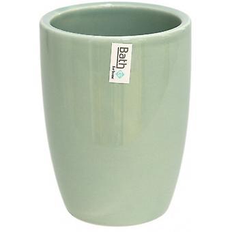 bath cup Genova 8 x 11 cm ceramic green