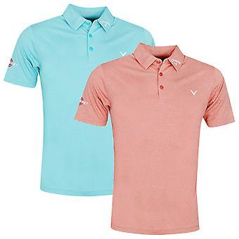 Callaway Golf Mens 2021 Odyssey Birdseye Soft Touch Swing Tech Golf Polo Shirt