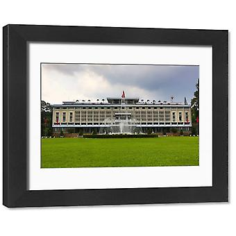 The Reunification or Independence Palace, Ho Chi Minh City (Saigon), Vietnam. Framed Photo. The.