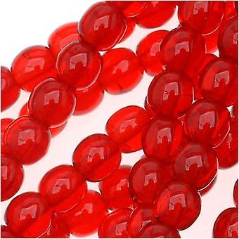 Czech Glass Druk 4mm Round Ruby Red (100)