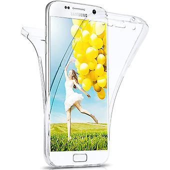 FengChun Doppelkoffer für Samsung Galaxy S7 - Hülle mit 360 Grad Schutz, Silikon Schutzhülle, vorne