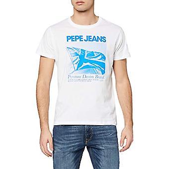 Pepe Jeans Sheldon T-paita, Valkoinen (Optinen Valkoinen 802), M Miesten