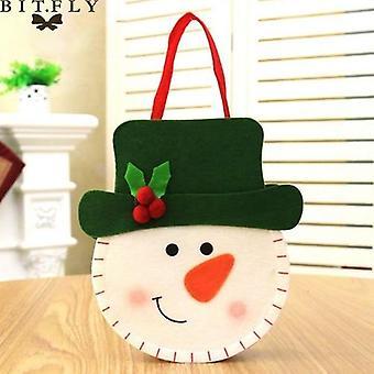 15x18cm عيد الميلاد سانتا الأيل رجل الثلج كاندي حقيبة
