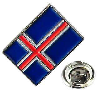 Ties Planet IJsland Vlag Revers Pin Badge