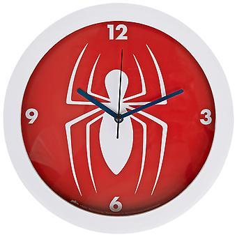 """Marvel Comics Spider-Man Symbol Character 9 3/4"""" Wall Clock"""
