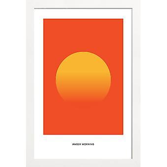 JUNIQE Print -  Morning #4 - Abstrakt & Geometrisch Poster in Gelb & Orange