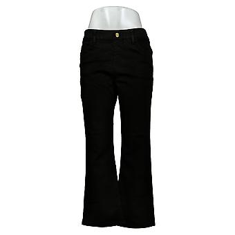 IMAN Global Chic Women's Petite Jeans Bootcut Black 734928001
