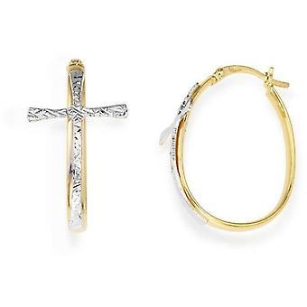 Amen cerchio croce argento guldörhängen orgogb