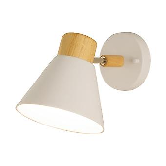 Wooden Wall Lamp 10W Three-color Rotating 90° Wall Lamp White