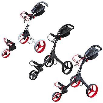 Big Max 2021 IQ+ Foldable Adjustable Accessories Cart Golf Push Trolley