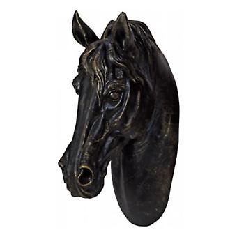 Black Resin Horse Head By Heaven Sends