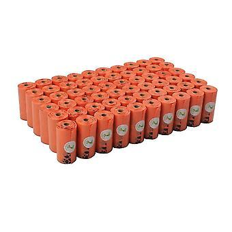 Dog Poop Torby Przyjazne dla Ziemi 1080 Liczy Duże Pomarańczowe Torby Na Odpady Cat Bezzaworu