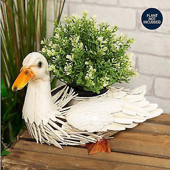Country Living Handmade Metal Duck Planter