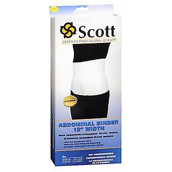 Scott Specialties Scott Abdominal Binder 12 Inch Width Large, 1 Each