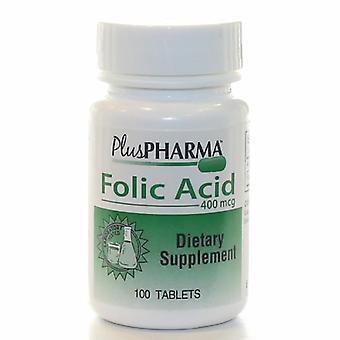 Plus Pharma Folic Acid, 400 mcg, 100 Tabs