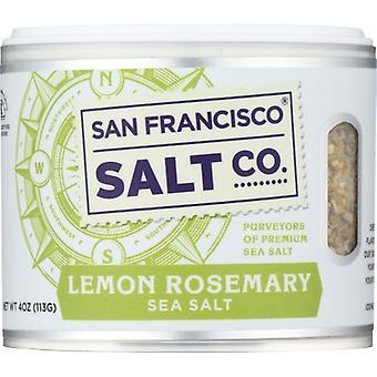 San Francisco Salt Co Salt Sea Citron Rosmarin, Fall av 6 X 4 Oz