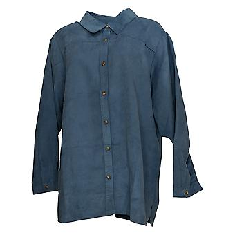 Joan Rivers Classics Collection Women's Top Long Sleeve Blue A278730
