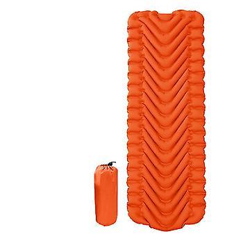 coussin de tente gonflable extérieur pliable, tapis anti-humidité pour travel camping (orange)