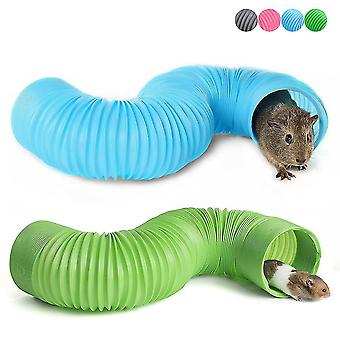 Pet Fun Tunnel Telescopic Pipe Ferret Supplies Hamster Toys(Pink)
