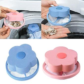 2 PCS Washing Machine Hair Removal Catcher Filter Dirty Fiber Collector Filters Laundry Filters(Pink