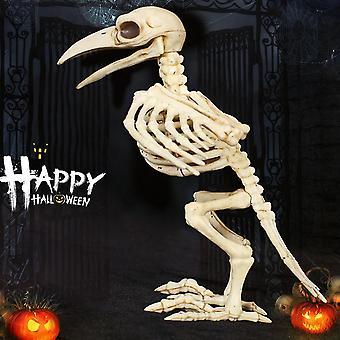 Skelett Raven Plast Djur Skelett Ben För Skräck Halloween Dekoration