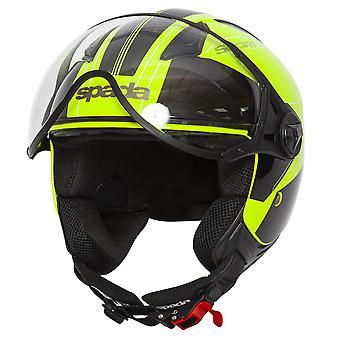 Spada Hellion Twist Open Face Casco de motocicleta amarillo