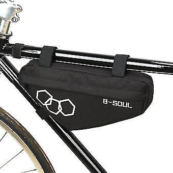 Mountain bike triangle bag, bicycle front beam package(Black)