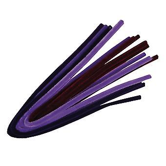 10 violetti sävyjä 9mm paksu extra pitkä 50cm putkenpuhdistusaineet | Chenille Varret
