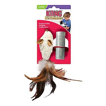 Kong feather mouse cat toy