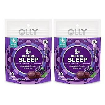 Olly Restful Sleep Gummies - Blackberry 2 Pack
