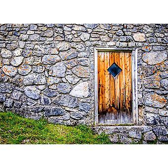 Tapeta Mural Piękne Stare Drewniane Drzwi