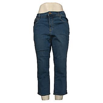 Belle av Kim Gravel Kvinners Jeans TripleLuxe Denim 5-Pocket Crop Blue A377250